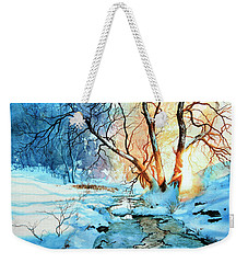 Weekender Tote Bag featuring the painting Drawn To The Sun by Hanne Lore Koehler