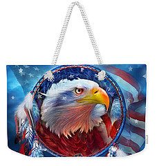 Dream Catcher - Eagle Red White Blue Weekender Tote Bag