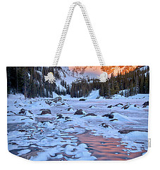 Dream Lake - Rocky Mountain National Park Weekender Tote Bag by Ronda Kimbrow