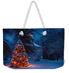 Christmas At The Richmond Round Church Weekender Tote Bag by Jeff Folger
