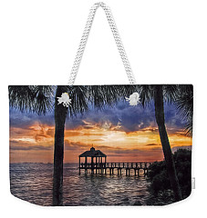 Weekender Tote Bag featuring the photograph Dream Pier by Hanny Heim