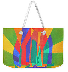 Weekender Tote Bag featuring the painting Dreamboat by Tracey Harrington-Simpson