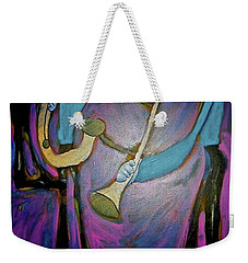 Weekender Tote Bag featuring the painting Dreamers 00-001 by Mario Perron
