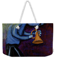 Weekender Tote Bag featuring the painting Dreamers 99-001 by Mario Perron