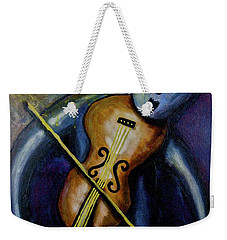 Weekender Tote Bag featuring the painting Dreamers 99-002 by Mario Perron
