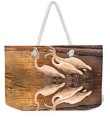 Dreaming Of Egrets By The Sea Reflection Weekender Tote Bag by Betsy Knapp