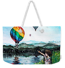 Weekender Tote Bag featuring the painting Dreams Do Come True by Shana Rowe Jackson