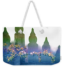 Weekender Tote Bag featuring the photograph Dreams Of A Picket Fence by Holly Kempe