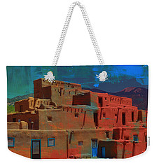 Weekender Tote Bag featuring the mixed media Dreams Of Taos by Michelle Dallocchio