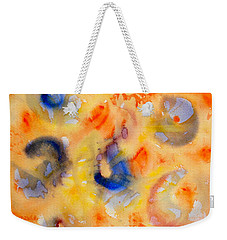 Weekender Tote Bag featuring the painting Dream In Color by Dee Dee  Whittle