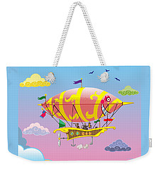 Rainbow Steampunk Dreamship Weekender Tote Bag