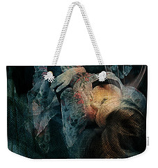 Weekender Tote Bag featuring the digital art Dreamweaver Urban Fantasy by Galen Valle