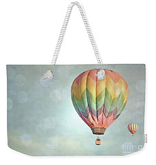 Dreamy Balloon Pair Sky Weekender Tote Bag by Andrea Hazel Ihlefeld