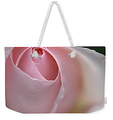 Weekender Tote Bag featuring the photograph Dreamy Rose by Joy Watson