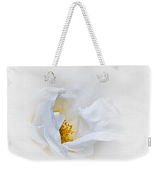 Dreamy White Rose Weekender Tote Bag by Jane McIlroy