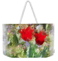 Dressed In Red  Weekender Tote Bag by Kerri Farley