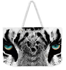 Dressed To Kill - White Tiger Art By Sharon Cummings Weekender Tote Bag by Sharon Cummings