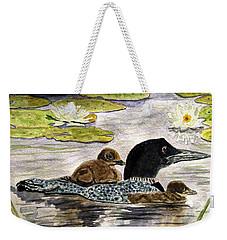 Drifting Among The Waterlilies Weekender Tote Bag by Angela Davies