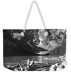 Driftwood - Black And White Weekender Tote Bag by Marcia Socolik