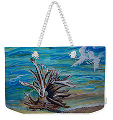 Driftwood On Lake Huron Weekender Tote Bag