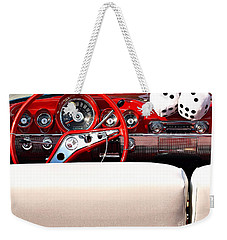 Drive-in Lounge - 1960 Chevy Weekender Tote Bag