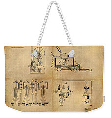 Drive System Assemblies Weekender Tote Bag by James Christopher Hill