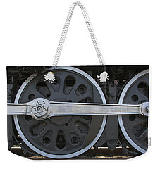 Driving Wheel On Vintage Train Weekender Tote Bag by Jane Eleanor Nicholas