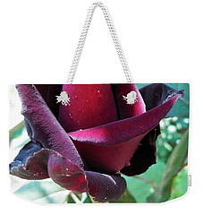 Weekender Tote Bag featuring the photograph Droplets On The Petals by Vesna Martinjak