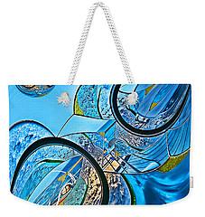 Blue Fantasy Weekender Tote Bag