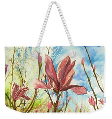 Drops Of Morning Weekender Tote Bag