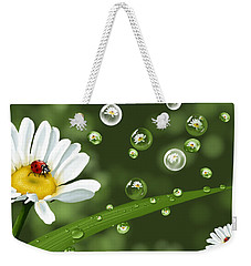 Drops Of Spring Weekender Tote Bag