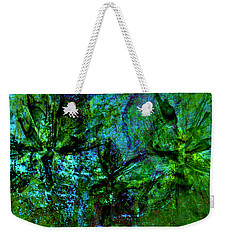 Weekender Tote Bag featuring the mixed media Drowning by Ally  White