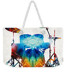Drum Set Art - Color Fusion Drums - By Sharon Cummings Weekender Tote Bag by Sharon Cummings