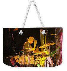Drumer For Newsong Rocks Atlanta Weekender Tote Bag by Aaron Martens