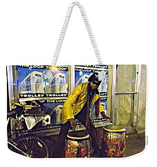 Weekender Tote Bag featuring the photograph Drumma Man II by Kelly Awad