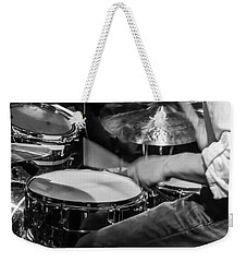 Drummer At Work Weekender Tote Bag by Photographic Arts And Design Studio
