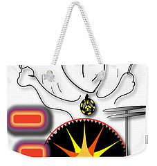 Weekender Tote Bag featuring the drawing Drummer Spike by Marvin Blaine