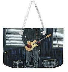 Drums And Wires Weekender Tote Bag by Sandra Marie Adams