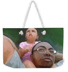 Weekender Tote Bag featuring the painting Duane by Vannetta Ferguson