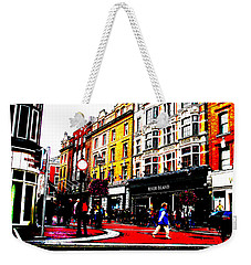 Weekender Tote Bag featuring the photograph Dublin City Vibe by Charlie and Norma Brock