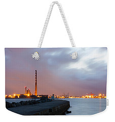 Dublin Port At Night Weekender Tote Bag by Semmick Photo