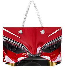 Ducati-unplugged V11 Weekender Tote Bag by Douglas Barnard