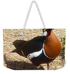 Duck Brown White Black Weekender Tote Bag