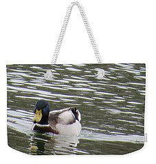 Duck Out For A Swim Weekender Tote Bag by Aaron Martens