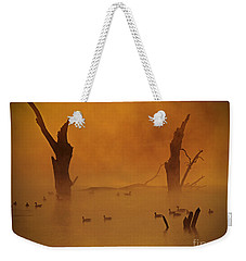Duck Pond Weekender Tote Bag