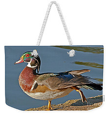 Weekender Tote Bag featuring the photograph Duck Yoga by Kate Brown