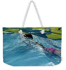 Ducking Under A Wave In A Pool Weekender Tote Bag