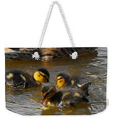 Duckling Splash Weekender Tote Bag