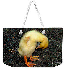 Duckling Takes A Bow Weekender Tote Bag