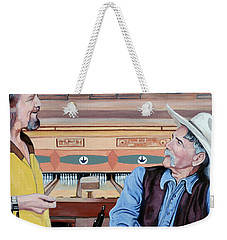 Weekender Tote Bag featuring the painting Dude You've Got Style by Tom Roderick